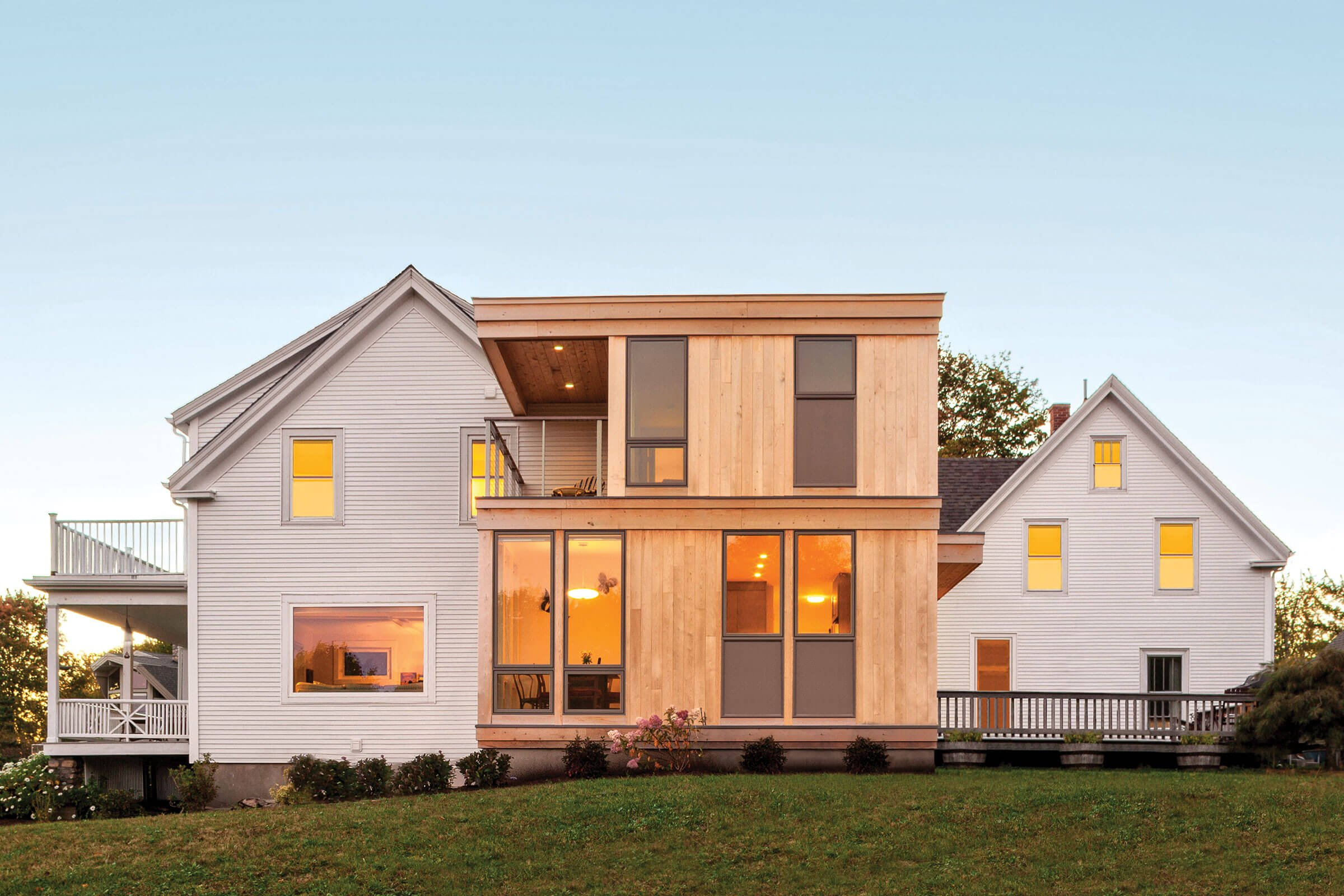Contemporary Addition To Home With Elevate Windows