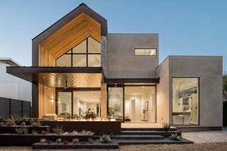 Contemporary Home With Ultimate Specialty Shape Windows