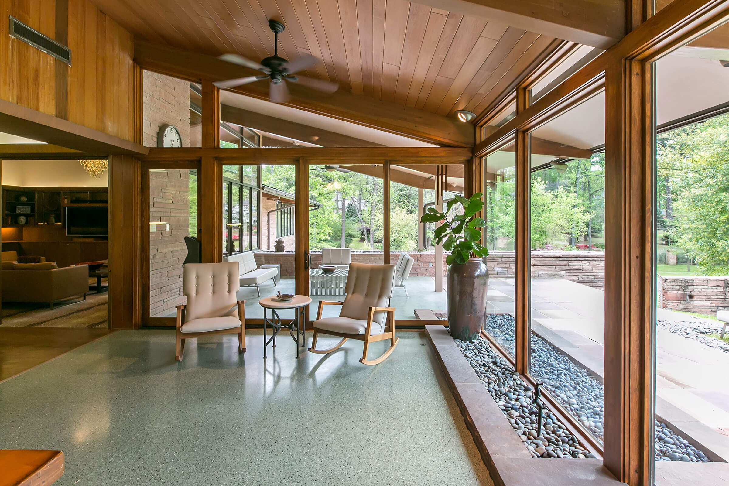 Interior View Of Porch With Ultimate Swinging French Door