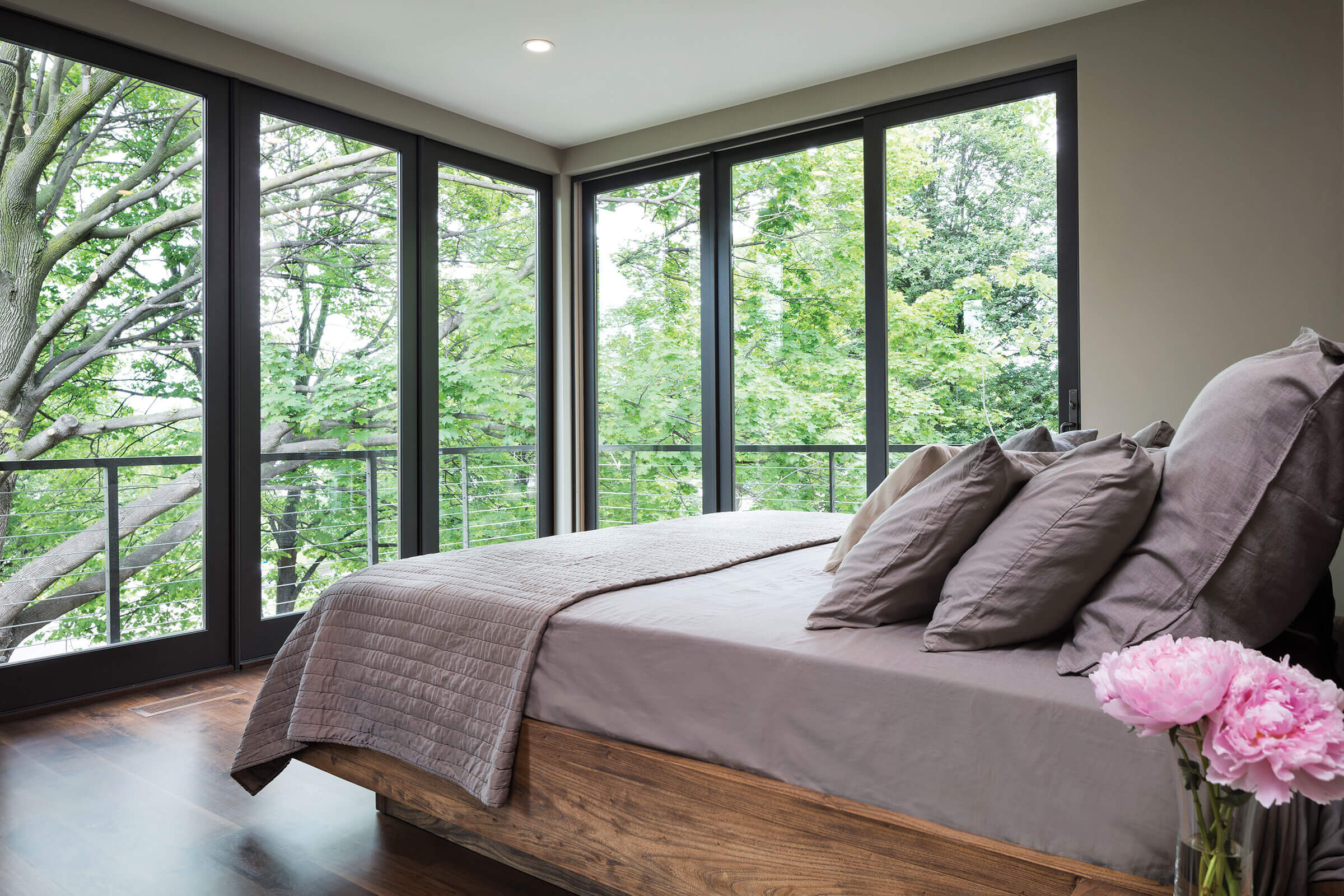 Bedroom With Elevate Sliding Patio Door