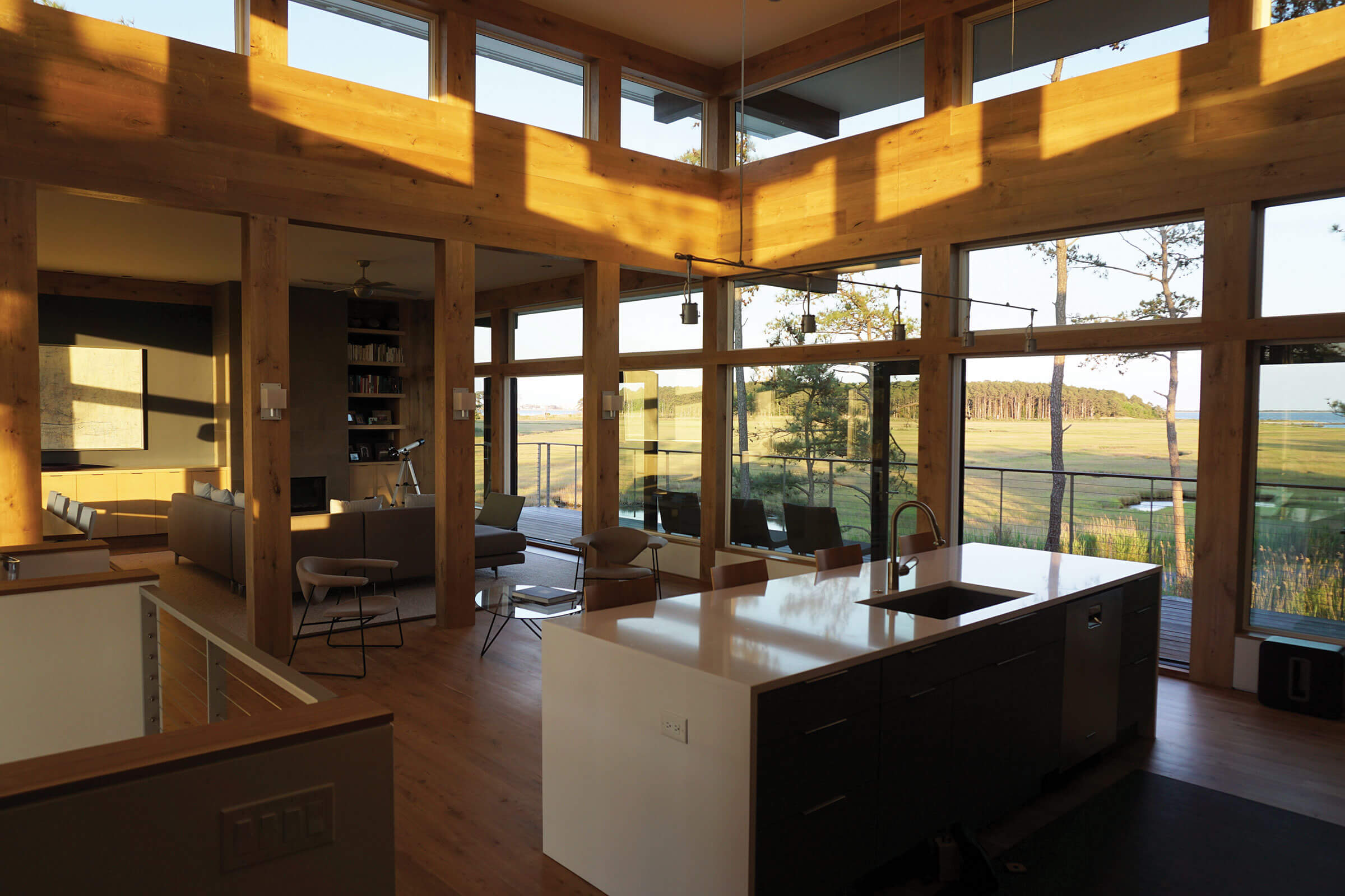 Kitchen With Elevate Windows And Doors