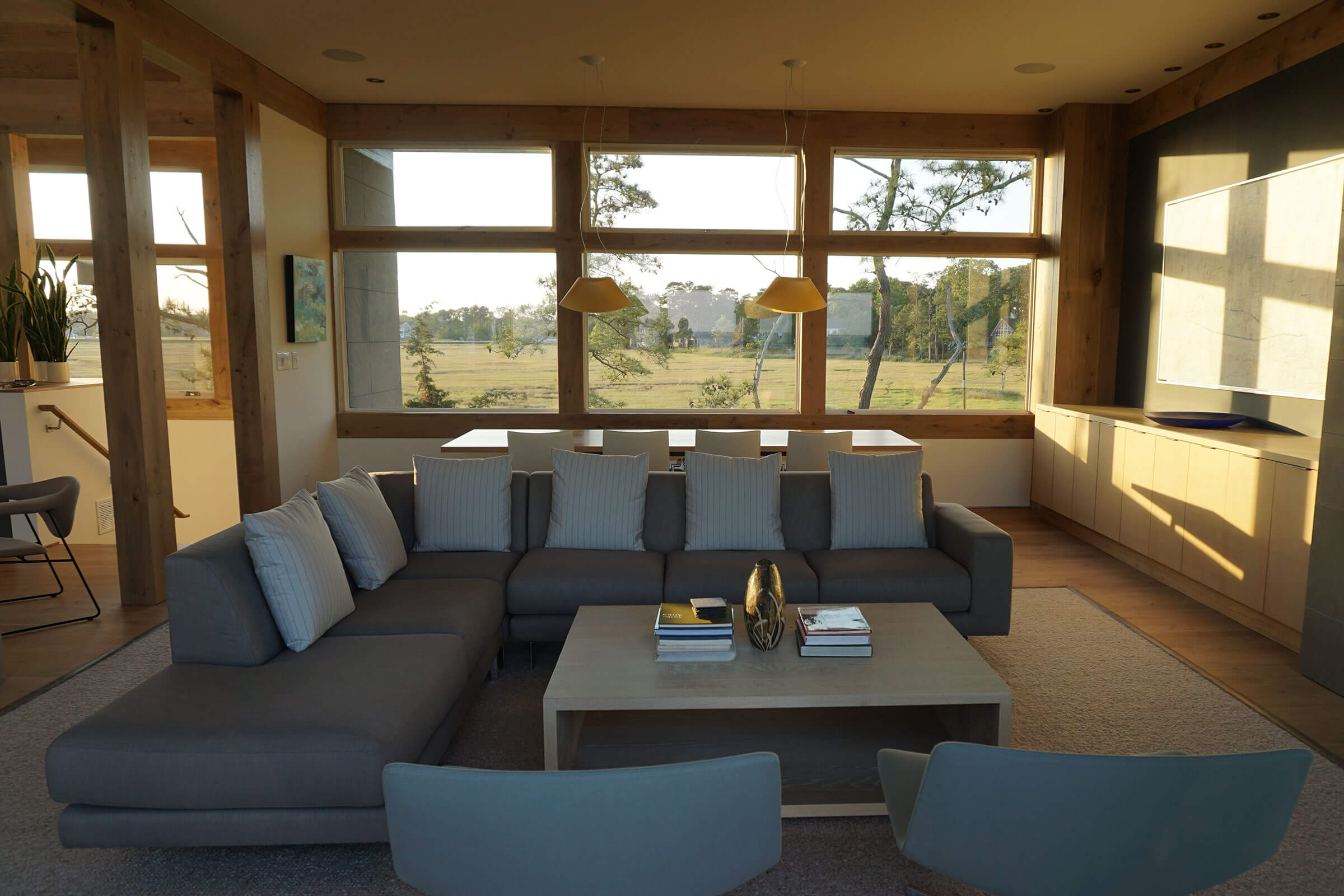 Living Room With Elevate Casement And Elevate Awning Windows