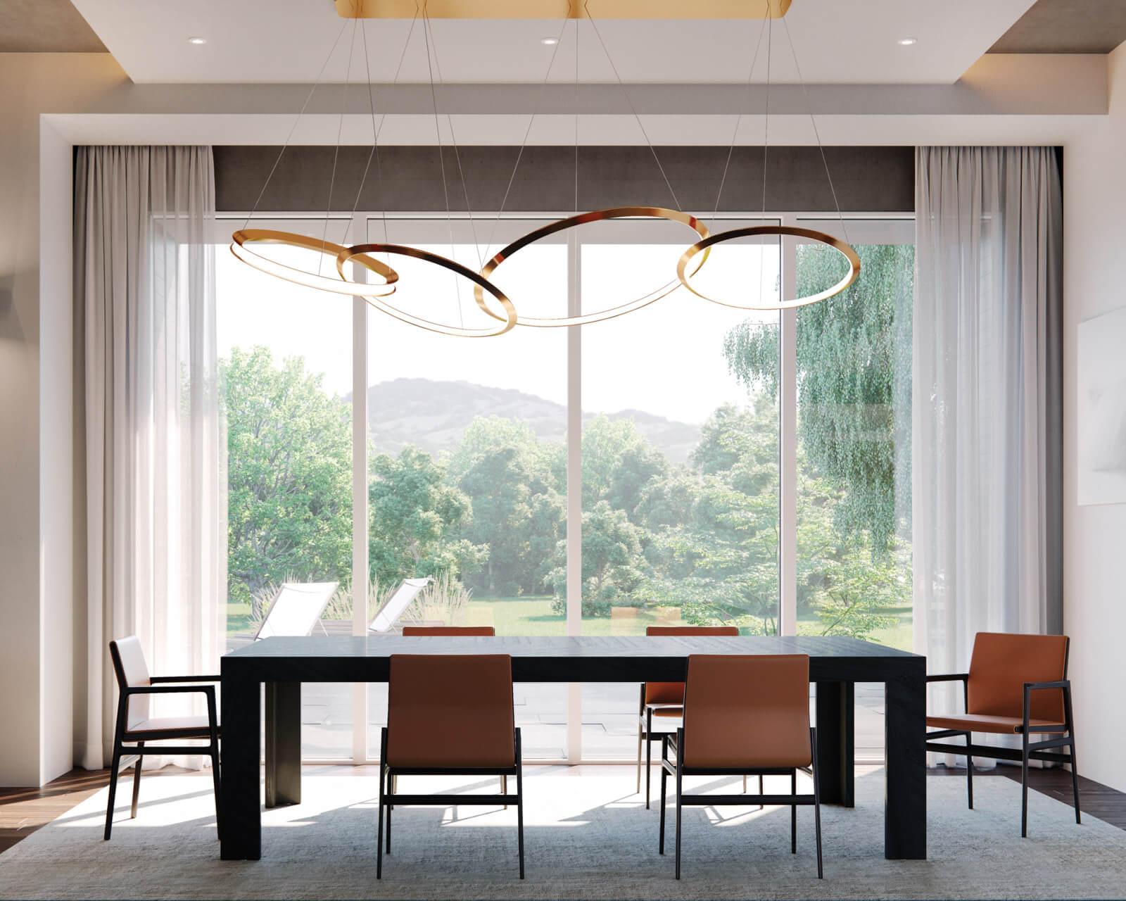 Modern Dining Room With Signature Modern Direct Glaze Windows