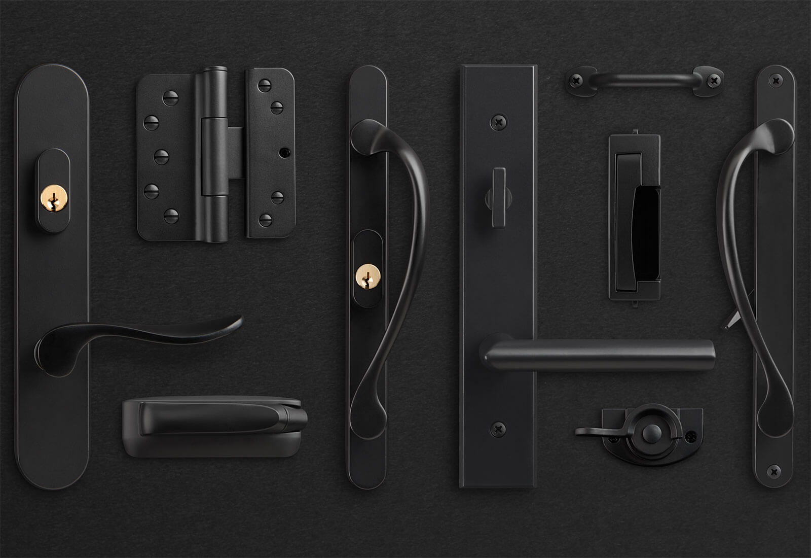 Contemporary Window And Door Hardware In Black