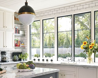 Kitchen With Ultimate Casement Push Out Windows