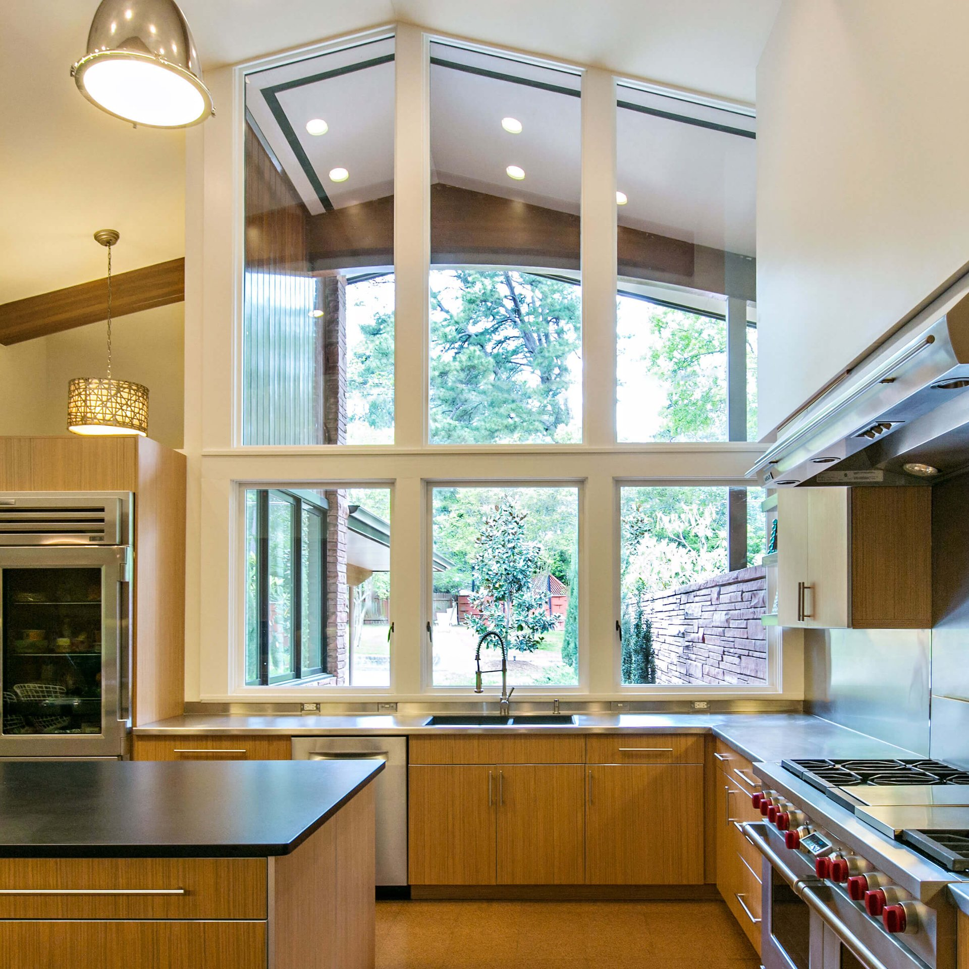 Mid-Century Modern Kitchen With Marvin Windows And Doors