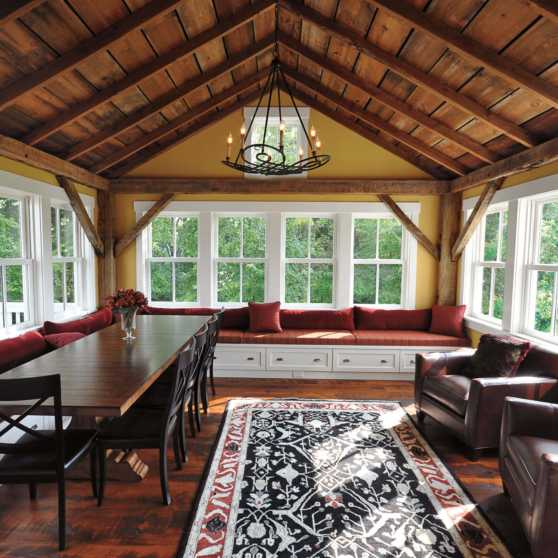 Porch With Ultimate Wood Double Hung Windows