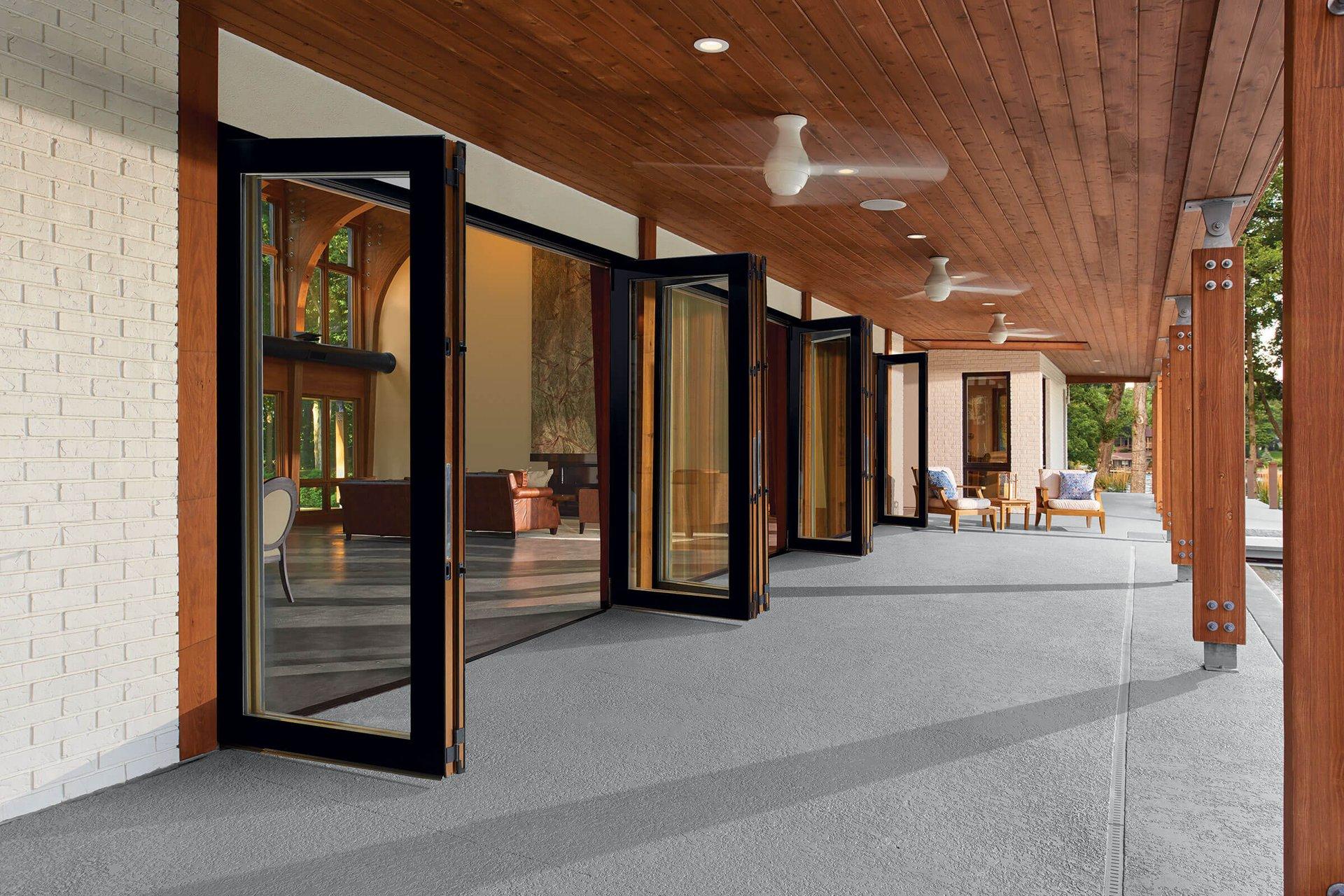 Folding Glass Patio Doors Glass Bi Fold Doors Marvin