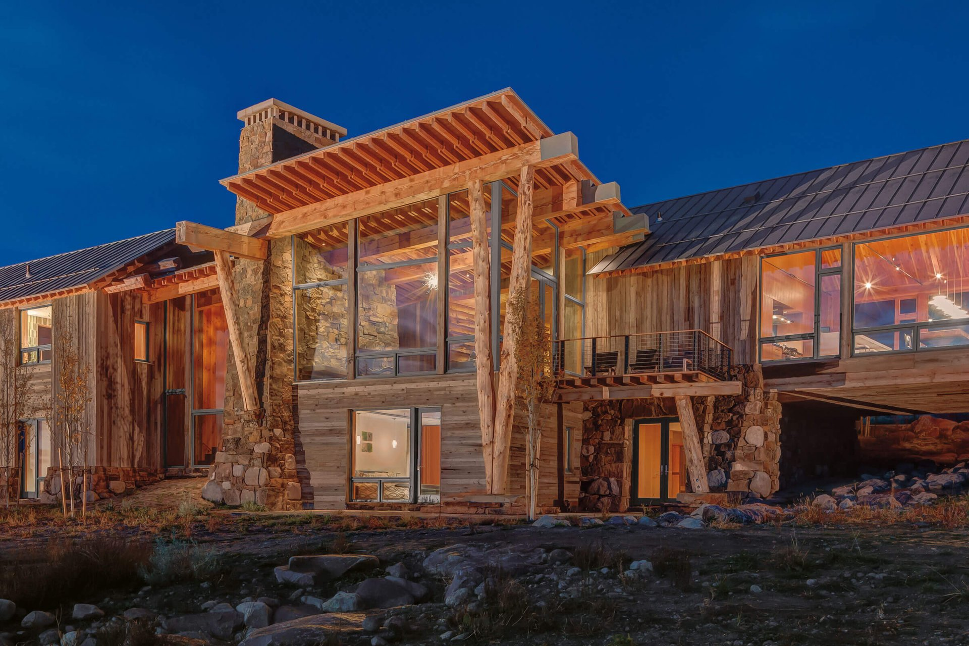 Mountain Cabin With Signature Ultimate Awning Push Out Windows
